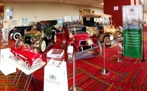 1934 Lincoln, 1905 Ford, 1903 Pope-Hartford, 1905 Stevens-Duryea