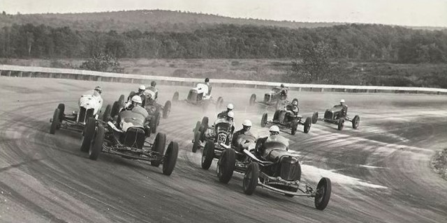 Scene from Opening Day at the Thompson Speedway, May 26, 1940
