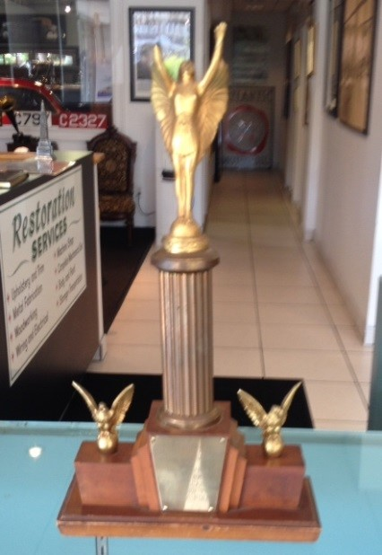 1954 World Motor Sports Show Grand Prix trophy awarded to Perry Fina