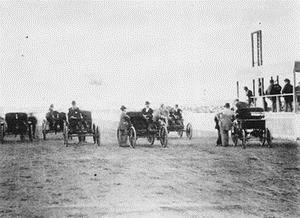 First U.S. auto race on a track at Narragansett Park, Cranston, RI September 1896