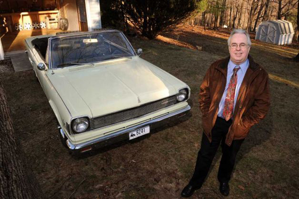 Author Patrick Foster with his restored 1967 Rambler Rogue
