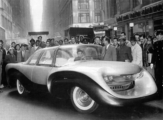 Aurora prototype unveiled in Manhattan, November 11, 1957