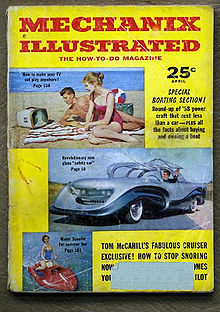 Magazine featuring the Aurora in April 1958