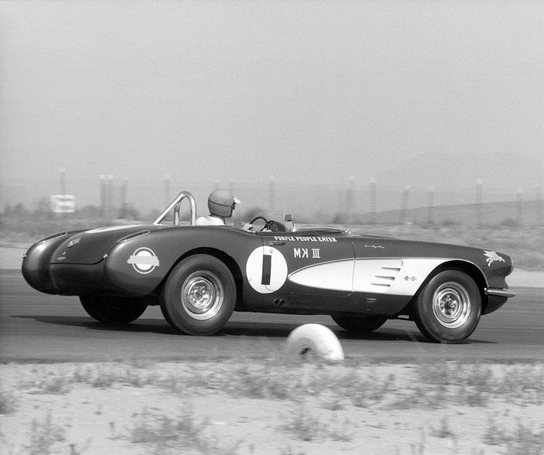 Jim Jeffords on track to win 1959 B/Production Championship (photo courtesy Hemmings)