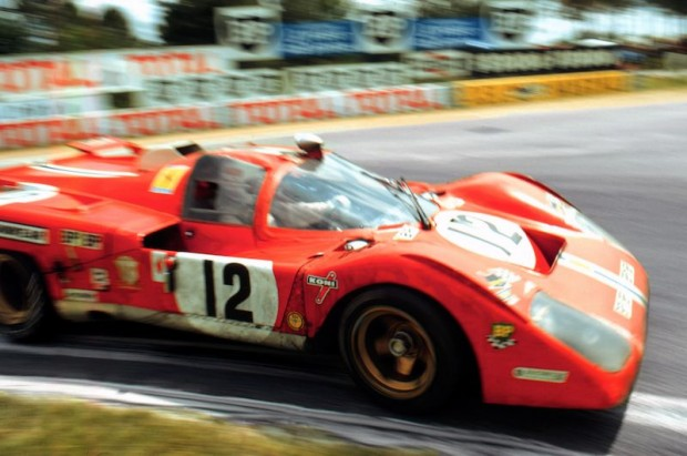 Sam Posey and Tony Adamowicz finished 3rd overall at the 1971 24 Hours of Le Mans driving the N.A.R.T. Ferrari 512M (photo: Speed Merchants Collection)