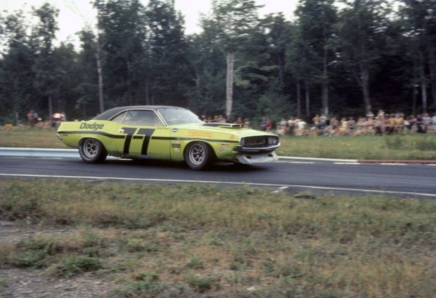 Sam Posey drove the lime green Dodge Challenger Trans-Am for the Trans-Am series in 1970 (photo: Speed Merchants Collection)