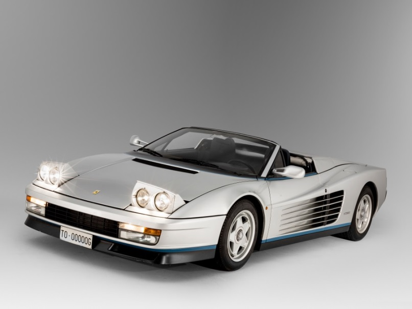 1986 Ferrari Testrossa Spider looks like the 1980s on wheels, estimated sale price $1 million . Photo: Artcurial