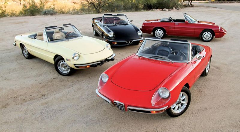 The iconic Alfa Romeo Spider celebrating its 50th Anniversary in 2016 (Photo: Hemmings)