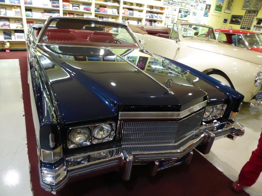 Pray loved this 1974 Cadillac Eldorado convertible, which wears a VW emblem in honor of his day job (Photo: Jim Motavalli)