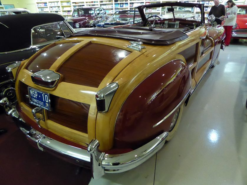 Look at the lovely wood on this 1946 Chrysler Town and Country convertible. These have also been soaring in value. (Photo: Jim Motavalli)