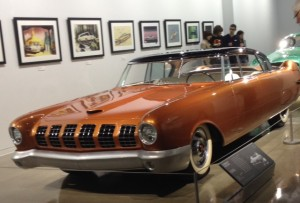 1955 Mercury D-528 Beldone concept car, part of the Concept Cars and Art exhibit in the Gruss Foundation Gallery