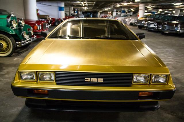 In the Petersen Vault, 24k gold DeLorean one of only three built for an American Express promotion  (Photo by Perhansa Skallerup/LAist)