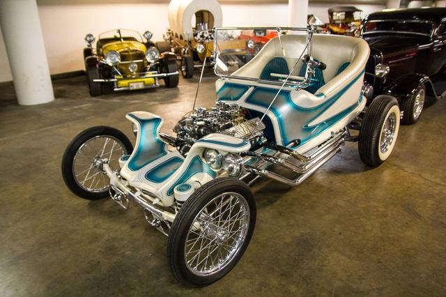 "Ground-breaking 1959 custom ""The Outlaw"" created by Ed ""Big Daddy"" Roth (Photo by Perhansa Skallerup/LAist)"