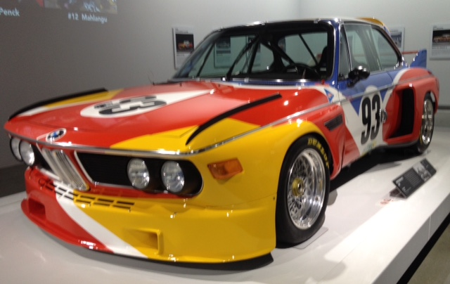 BMW's first art car, a 3.0 CSL by Alexander Calder, which was actually raced at LeMans in 1975
