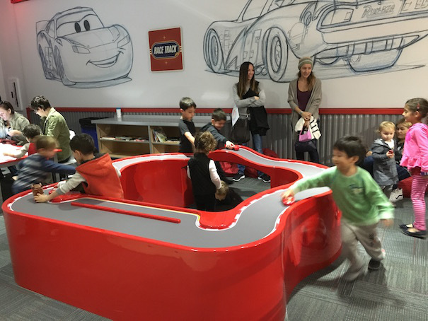 "Kids at play in the Discovery Center themed with Pixar ""Cars"" characters (Photo Shahrzad Warkentin/Red Tricycle)"