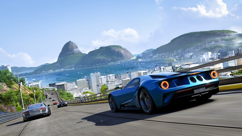 """Rio de Janeiro"" scene from the Forza Motorsports Racing Experience (Image Microsoft Corp.)"