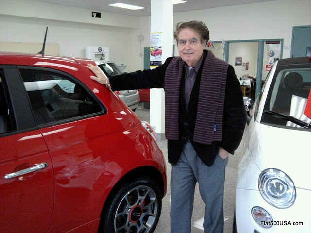 Alfredo Gulla at his Alfa Romeo Fiat dealership in Larchmont, NY (Photo Fiat500USA.com)