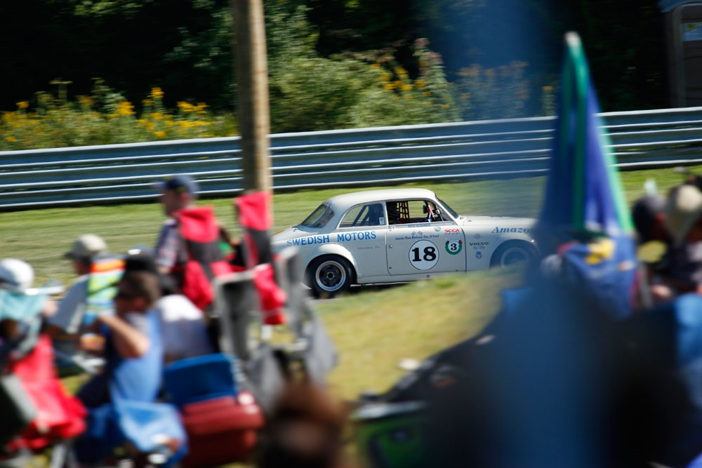 Volvo Amazon 122S at Lime Rock Park Historic Festival