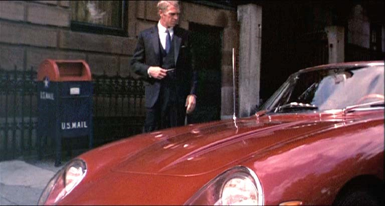 "Steve McQueen with the N.A.R.T .Spyder in ""The Thomas Crowne Affair"" Archived Photo"
