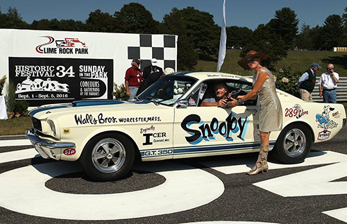 Carroll Shelby wanted to see his cars win drag races, too. Snoopy did that