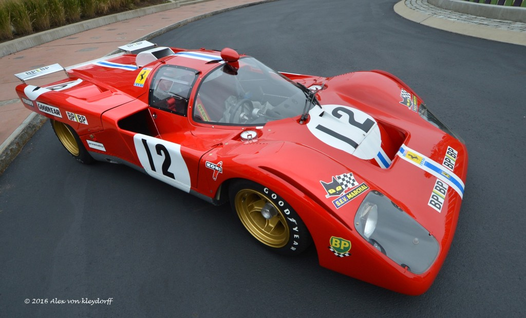 Ferrari 512M driven to 3rd place at LeMans in 1971 and multiple speed records at Bonneville in 1974 courtesy the Lawrence Auriana Collection Photo Alex Von Kleydorff