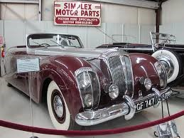 "1951 Daimler ""Green Goddess"" Drophead Coupe on display at the Cussler Museum in Arvada, CO Photo British V8"