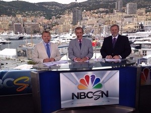 Leigh Diffey, David Hobbs and Steve Matchett reporting from the Monaco Grand Prix in May  Photo NBCSN