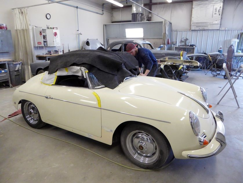 Porsches are blazingly hot as collectibles, especially convertibles like this 356