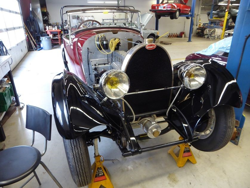 This Bugatti is brought in for further work when its owner-mechanic needs a rest