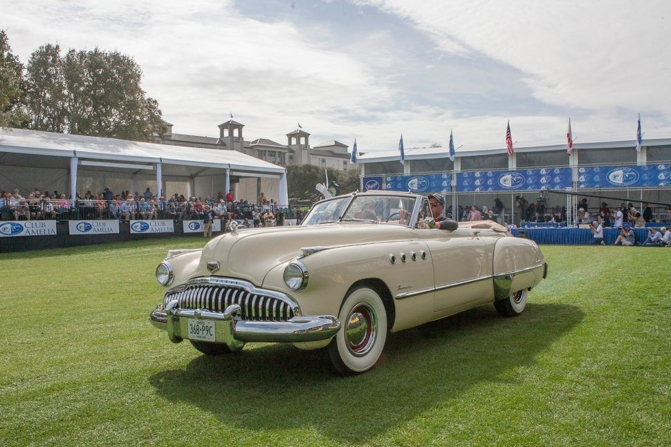 The 'Rain Man' 1949 Buick Roadmaster convertible restored by Wayne Carini Photo by Neil Rashba, courtesy Amelia Island Concours d'Elegance
