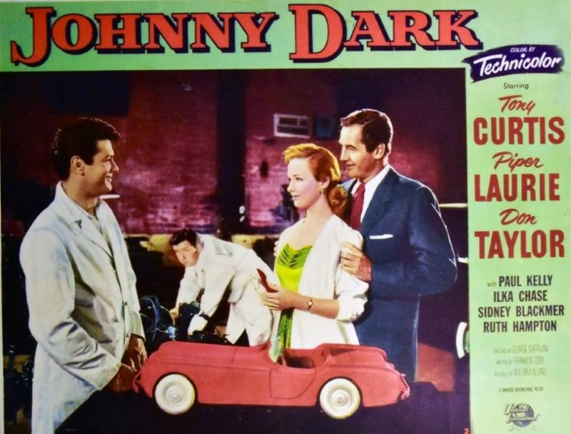 Poster for the 1954 film 'Johnny Dark' | Archive