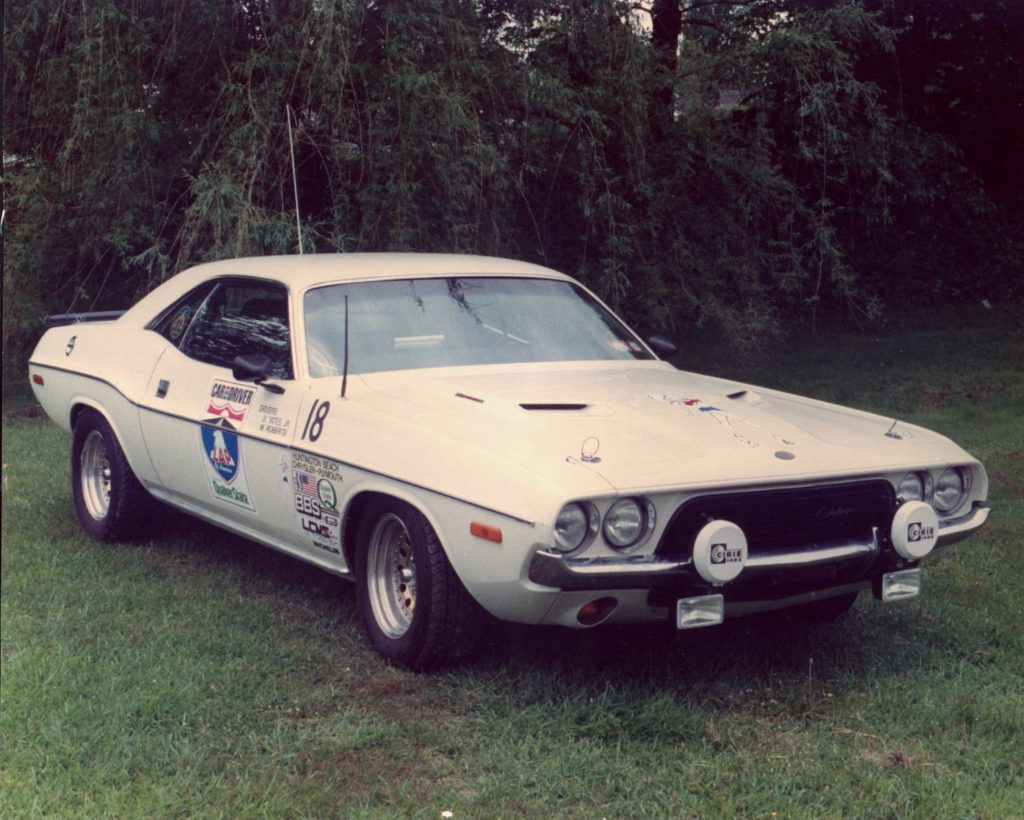 Brock Yates' Cotton Owens built 1972 Dodge Challenger now owned by Wayne Carini – Amelia Is. Concours photo