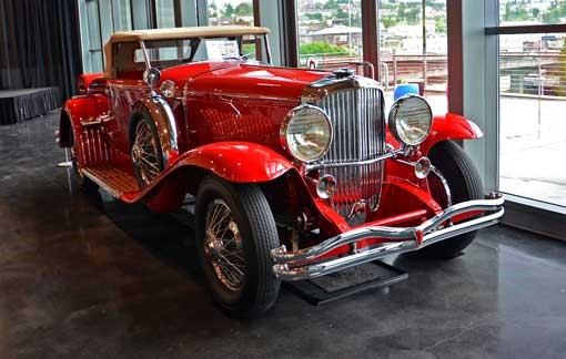 The museum's 1930 Model J Duesenberg – Photo The LeMay Car Museum