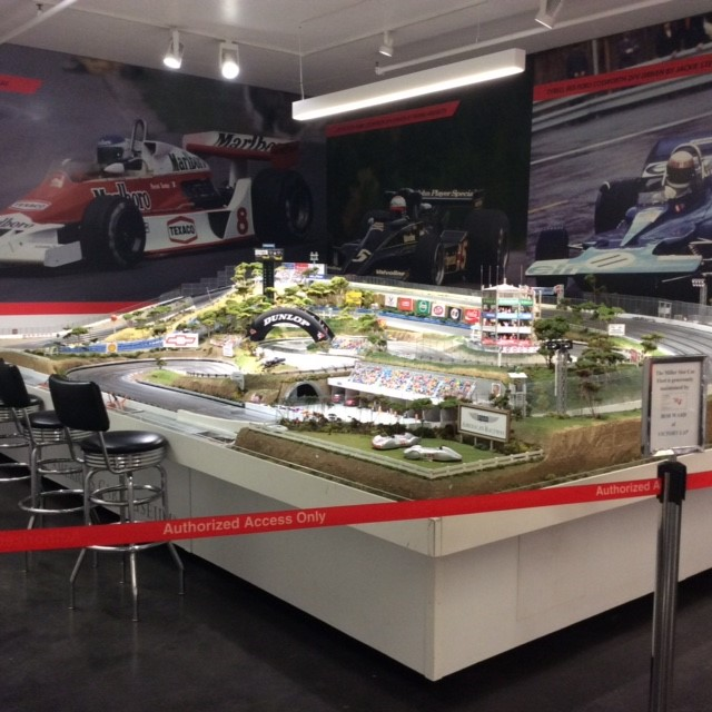Museum features super-size slot car track layout for those who want to try their hand at racing