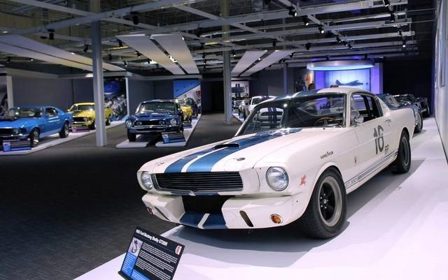 Ford Shelby Gallery features the iconic 1965 Shelby Mustang GT350R Photo – Newport Car Museum