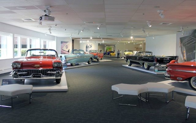 Gallery dedicated to finned cars from the 50's and 60's at the Newport Car Museum Photo – Newport Car Museum