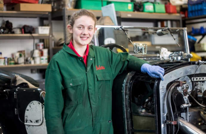 Emily Leese lands apprentice training at Britain's National Motor Museum  Beaulieu Motor Museum photos