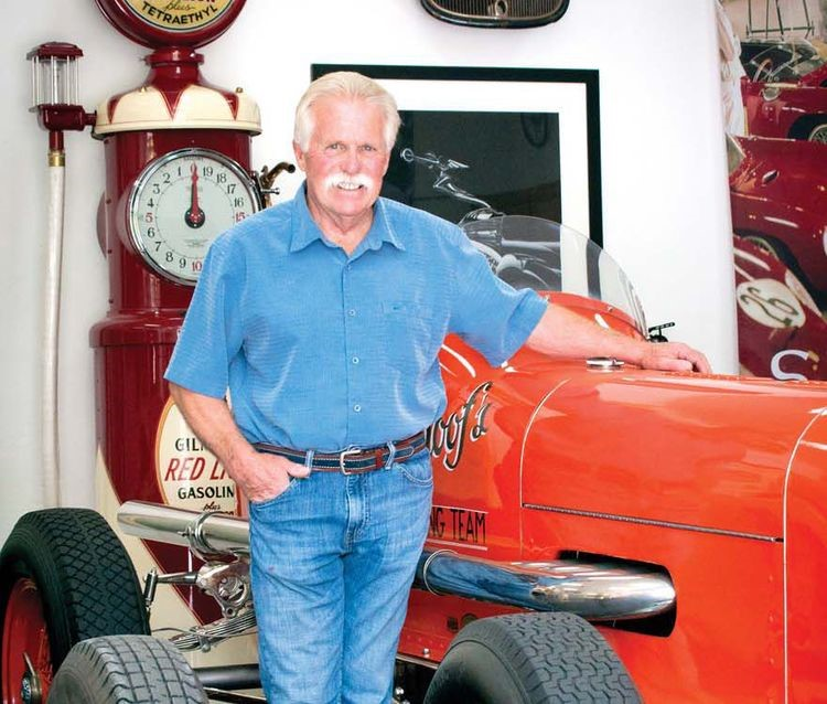 Wayne Carini with his Schoof Special, which raced at Indianapolis in the 1930s and '40s
