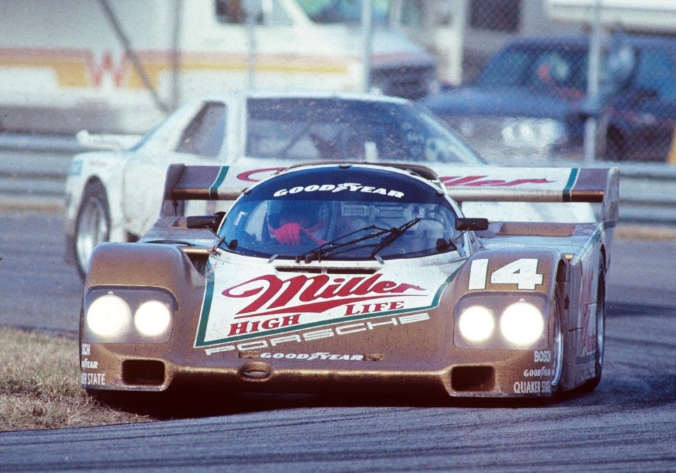 The Miller High Life-sponsored Porsche 962 of Holbert Racing. Photos by Bill Warner, courtesy Amelia Island Concours d'Elegance