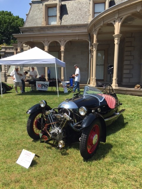 "People's Choice at the 2017 NEAM Father's Day Car Show Marc Wonderman's 1934 Morgan SS ""Trike"" (Photo Jenny Ord Bonadio)"