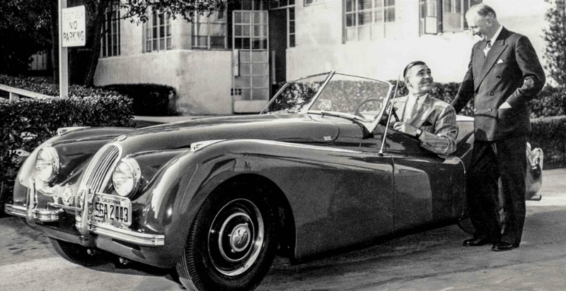 "Clark Gable told Jaguar Chief William Lyons he wanted the XK120 "". . . like a child wants candy."" Photo courtesy of Jaguar Land Rover Limited"