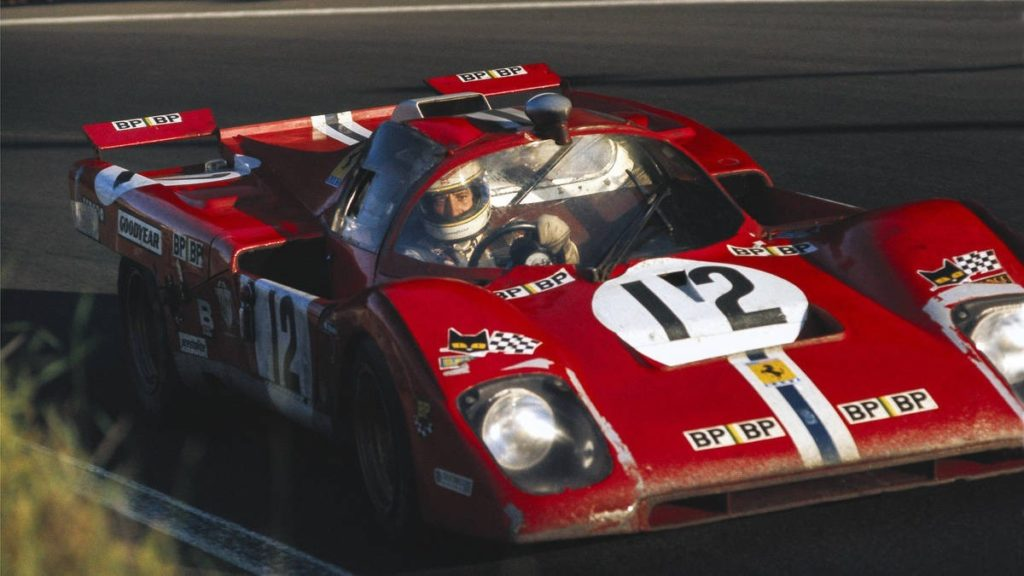"""Yanks at Le Mans"" details every American who raced there between 1923 and 1979. Here, Tony Adamowicz swings his and Sam Posey's 512 M through Tertre Rouge in 1971. Unable to match the dominant Porsches and not even in the fastest Ferrari, ""Tony A-Z"" and Posey would put in a gritty performance to carry their increasingly crippled NART Ferrari to a podium finish Photo by RAINER SCHLEGELMILCH"