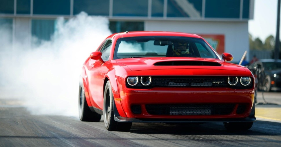 "2018 Dodge SRT Challenger Demon with 808 Horsepower, billed as the ""Fastest Production Car in the World"" (Photo Dodge Division, FCA)"