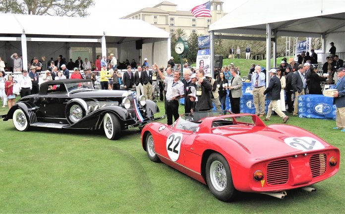 A 1929 Duesenberg SJ roadster and a 1963 Ferrari 250/275P won Best of Show awards at the 2018 Amelia concours | Bob Golfen photos