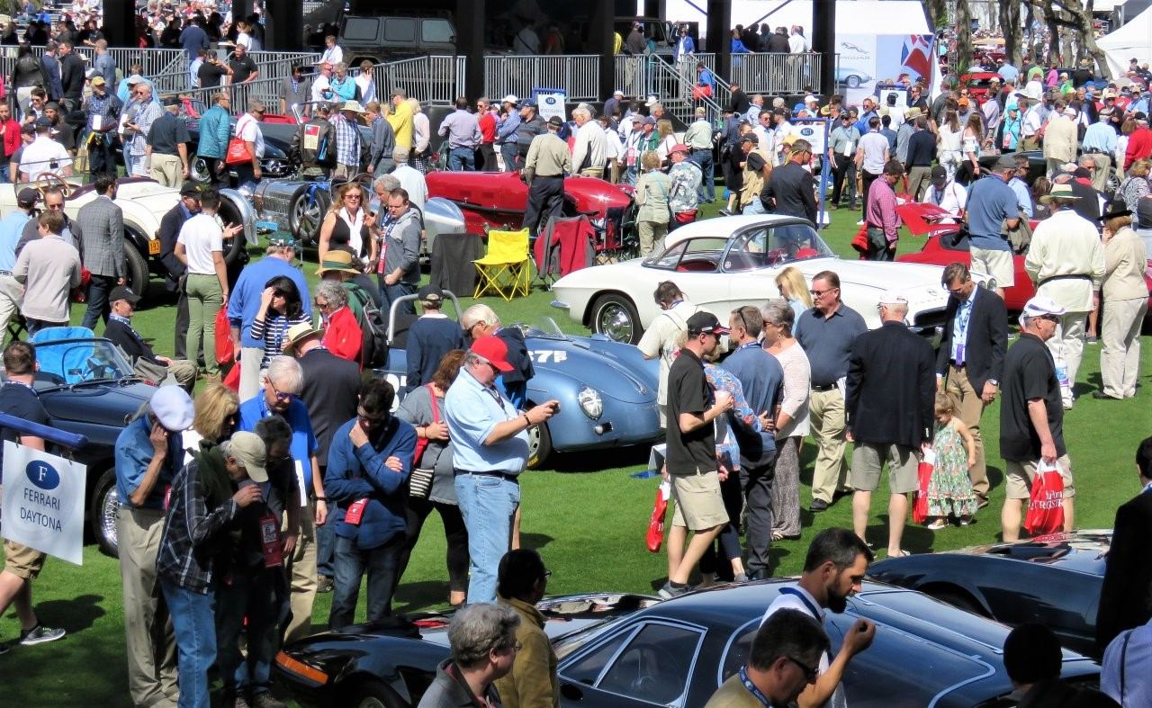 The annual Amelia concours attracts a strong crowd of spectators and participants